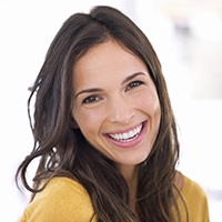 Woman with flawlessly repaired smile