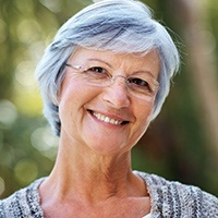 Older woman with flawlessly repaired smile