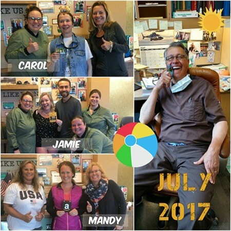 July 2017 winners collage