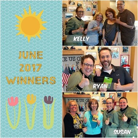 June 2017 winners collage