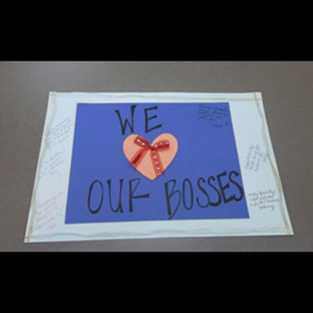 We heart our boss card