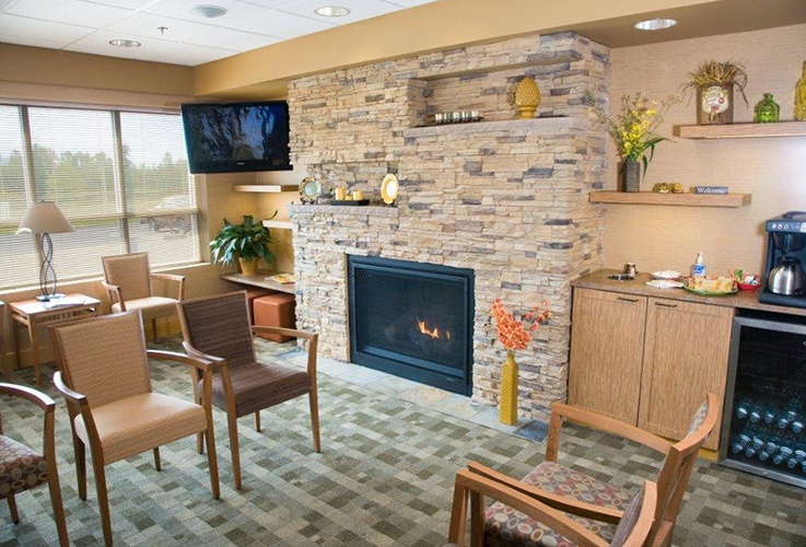 Warm and welcoming patient waiting area