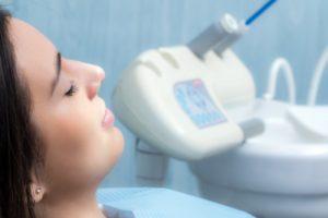 Patient visiting her Bellingham sedation dentist